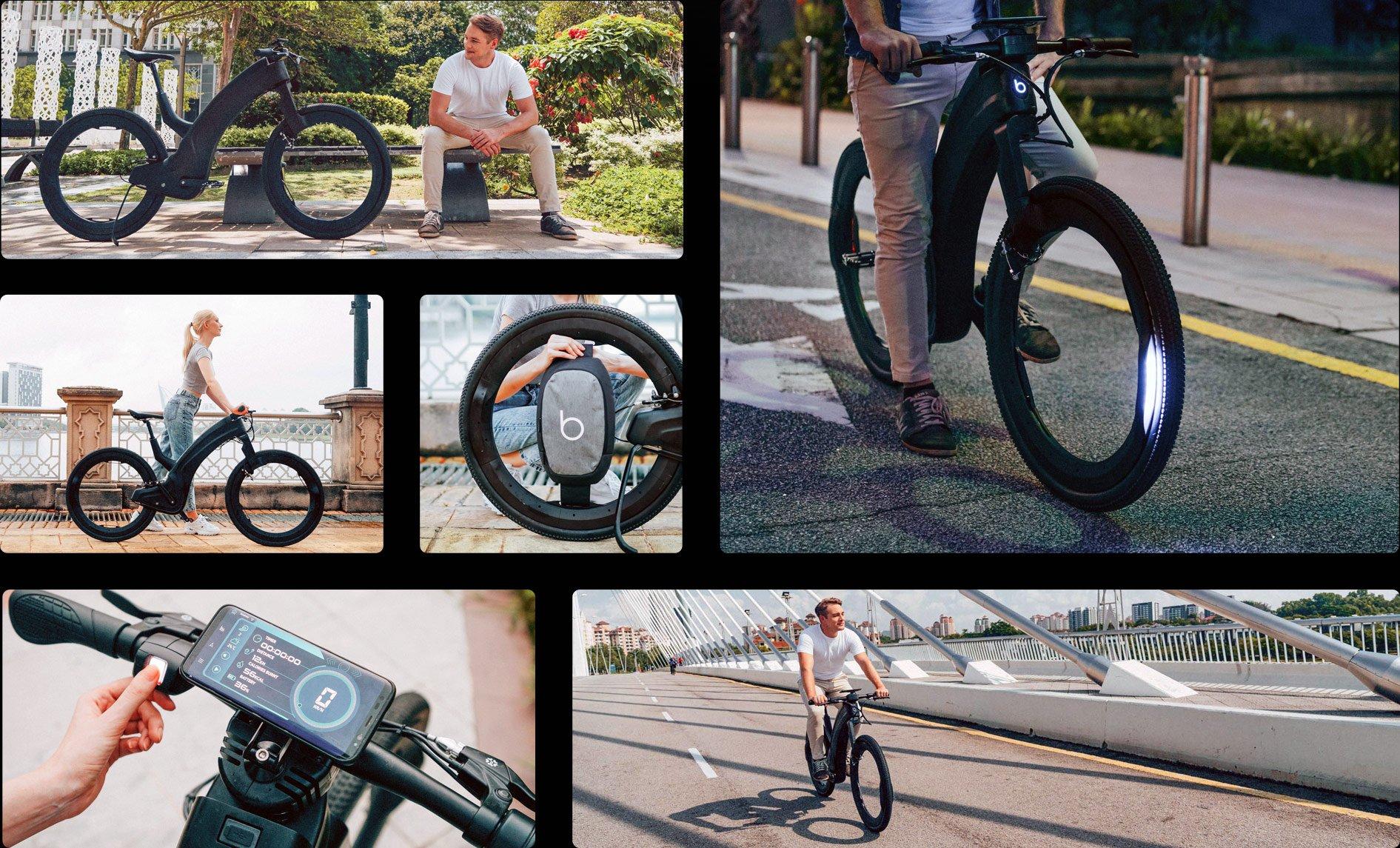 Hubless E-bike, reevo, elektrische fiets, zonder spaken, vingerscanner