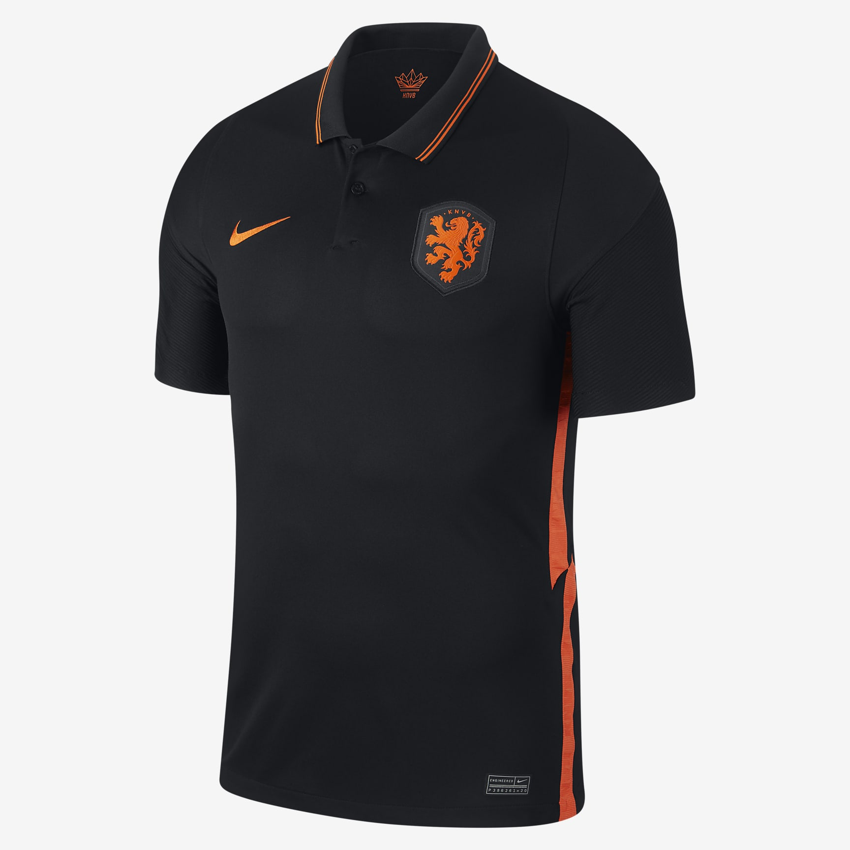 uitshirt, zwart, nederlands elftal, 20 21
