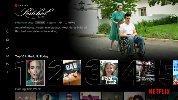 Nieuw op Netflix tab